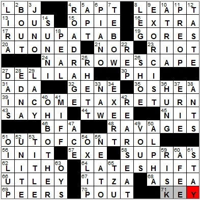 LA Times Crossword Answers 18 Sep 12, Tuesday