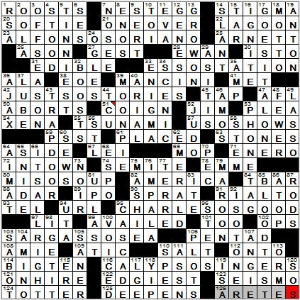 LA Times Crossword Answers 23 Sep 12, Sunday