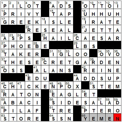 LA Times Crossword Answers 24 Sep 12, Monday