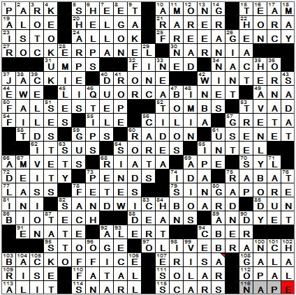 LA Times Crossword Answers 30 Sep 12, Sunday