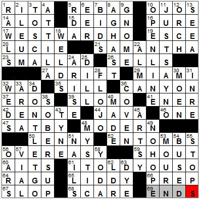 LA Times Crossword Answers 2 Oct 12, Tuesday