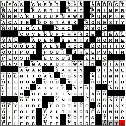 LA Times Crossword Answers 7 Oct 12, Sunday