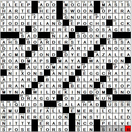 LA Times Crossword Answers 14 Oct 12, Sunday