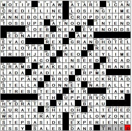 LA Times Crossword Answers 21 Oct 12, Sunday