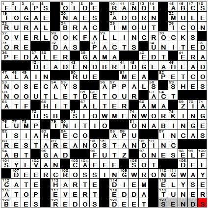 LA Times Crossword Answers 11 Nov 12, Sunday