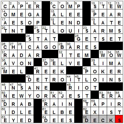 LA Times Crossword Answers 14 Nov 12, Wednesday