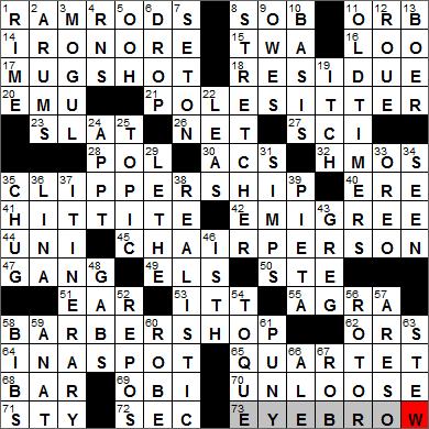 LA Times Crossword Answers 15 Jan 13, Tuesday