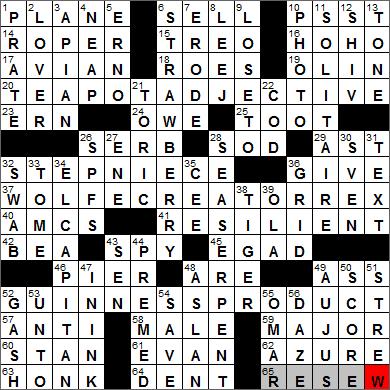 LA Times Crossword Answers 14 Feb 13, Thursday