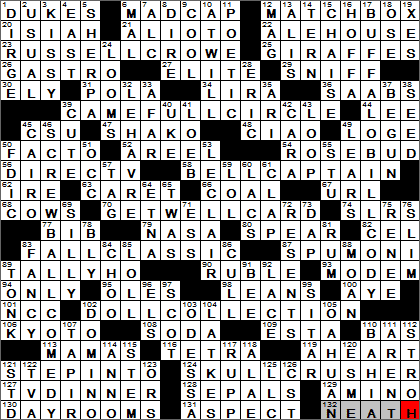 LA Times Crossword Answers 26 May 13, Sunday