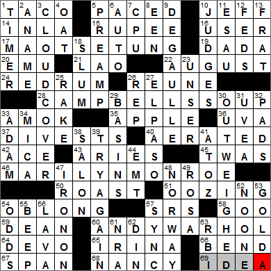 LA Times Crossword Answers 6 Aug 13, Tuesday