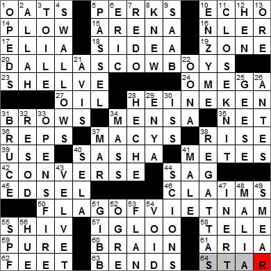 LA Times Crossword Answers 11 Nov 13, Monday