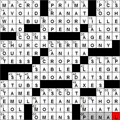 LA Times Crossword Answers 28 Nov 13, Thursday