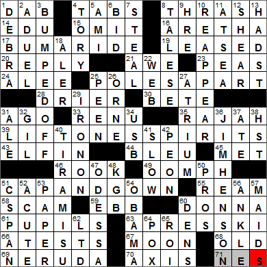 LA Times Crossword Answers 27 Jan 14, Monday