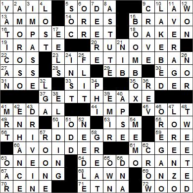 LA Times Crossword Answers 15 Jul 15, Wednesday