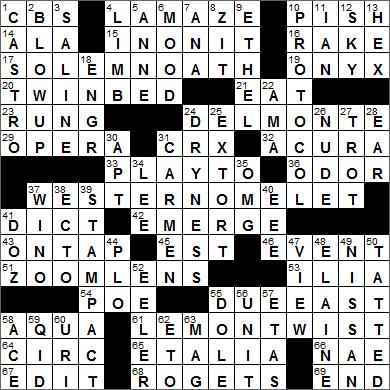 LA Times Crossword Answers 2 Jul 15, Thursday