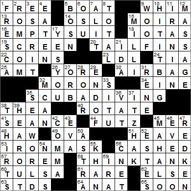 LA Times Crossword Answers 10 Aug 15, Monday