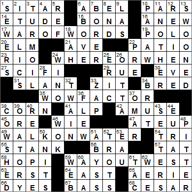 LA Times Crossword Answers 11 Aug 15, Tuesday