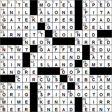 LA Times Crossword Answers 31 Aug 15, Monday