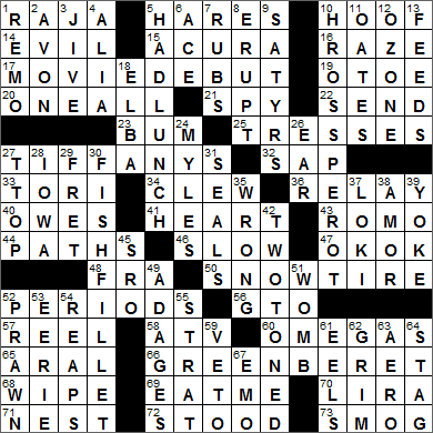 LA Times Crossword Answers 15 Sep 15, Tuesday