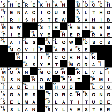 LA Times Crossword Answers 4 Dec 15, Friday