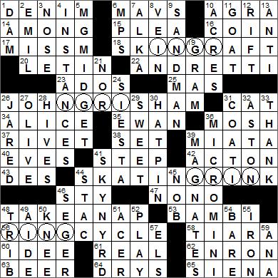 LA Times Crossword Answers 6 Apr 16, Wednesday