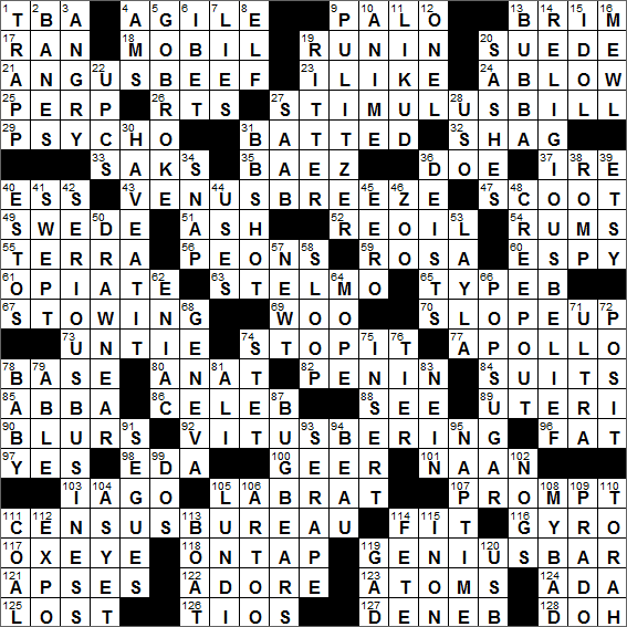 LA Times Crossword Solution 24 Jul 16