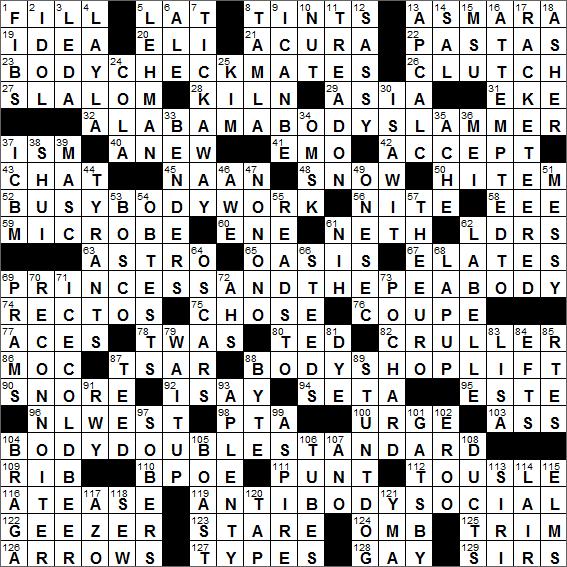 LA Times Crossword Solution 9 Jul 16