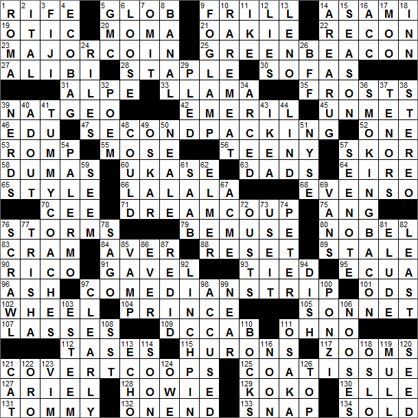 LA Times Crossword Solution 21 Aug 16