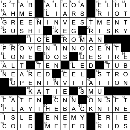 Creed Crossword Clue Archives Laxcrossword Com