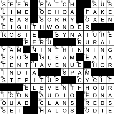 La Times Crossword Answers 20 Feb 17 Monday Laxcrossword Com