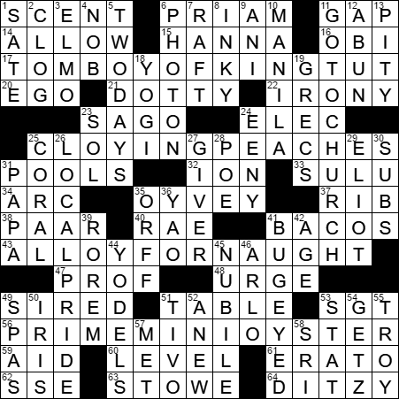victorian prime minister crossword clue