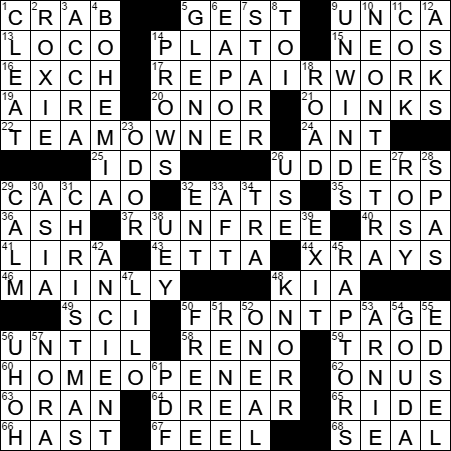 Republic Philosopher Crossword Clue Archives Laxcrossword Com