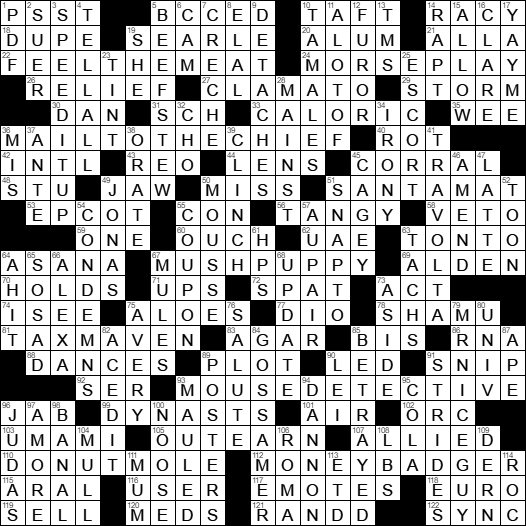 7b9ae735f7fbd Tag  Prior president who swore in two subsequent presidents crossword clue. LA  Times Crossword Answers 21 May 17 ...