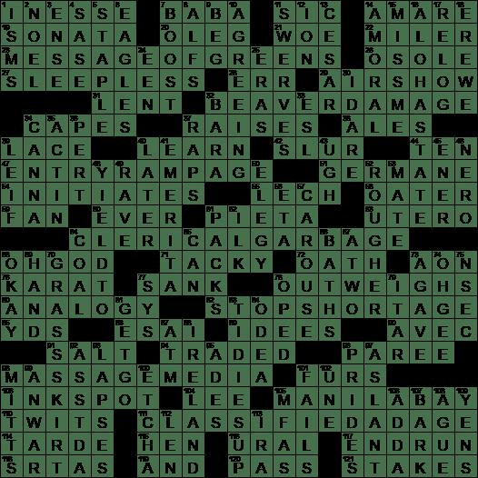 Co-Nobelist with Menachem crossword clue Archives - LAXCrossword com