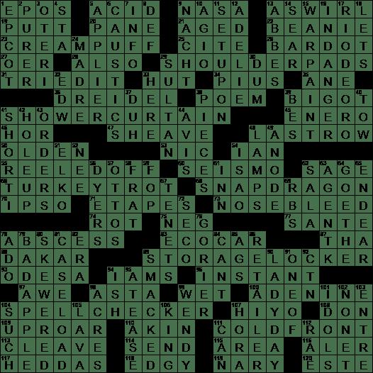La Times Crossword Answers 17 Sep 2017 Sunday Laxcrossword Com