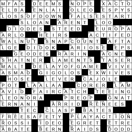 La Times Crossword Answers 5 Nov 2017 Sunday Laxcrossword Com
