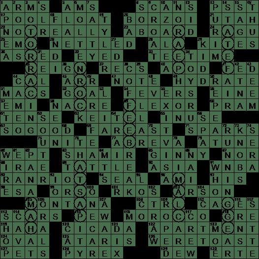 La Times Crossword Answers 15 Oct 2017 Sunday Laxcrossword Com
