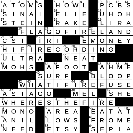 Banned pollutants briefly crossword clue Archives
