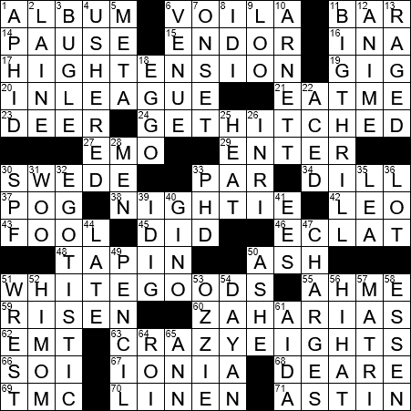 Feature items in some annual sales crossword clue Archives