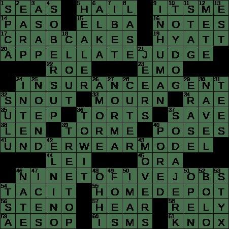 La Times Crossword 4 Apr 19 Thursday Laxcrossword Com