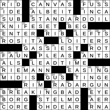 La Times Crossword 7 Mar 19 Thursday Laxcrossword Com