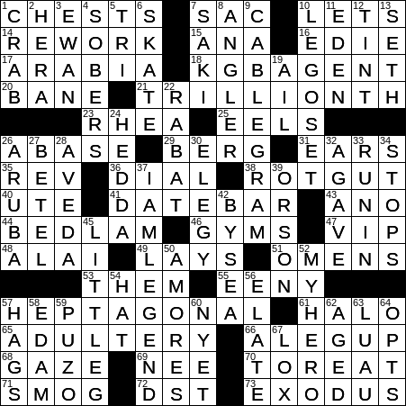 La Times Crossword 24 Apr 19 Wednesday Laxcrossword Com