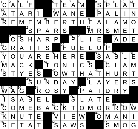 Closing statement? crossword clue Archives - LAXCrossword com