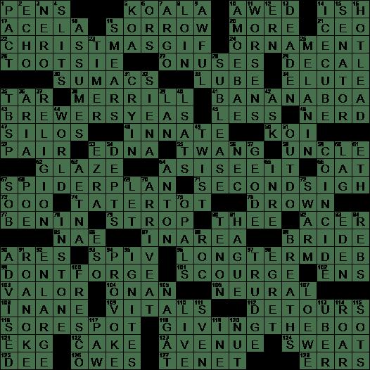 Cruller Coating Crossword Clue Archives Laxcrossword Com