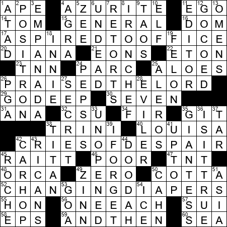 La Times Crossword 30 May 19 Thursday Laxcrossword Com