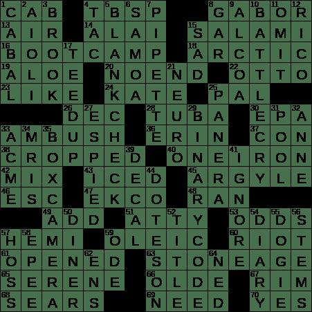 La Times Crossword 7 May 19 Tuesday Laxcrossword Com
