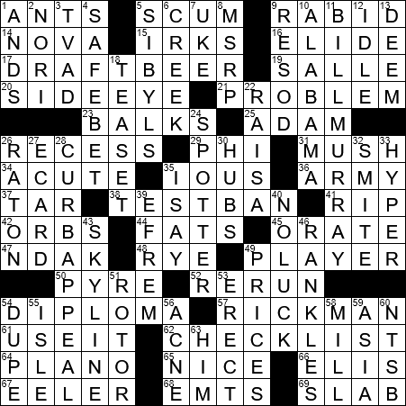 La Times Crossword 1 Jul 19 Monday Laxcrossword Com