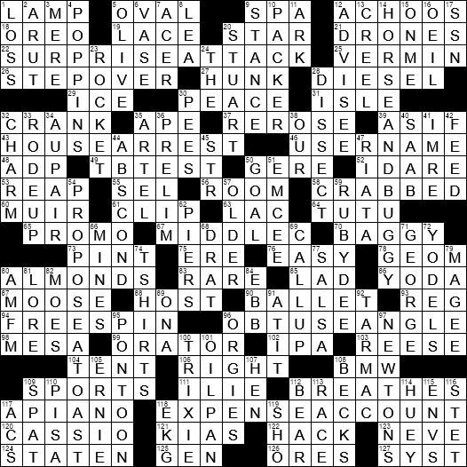 picture about Printable Chicago Tribune Crossword known as LA Occasions Crossword 9 Jun 19, Sunday -