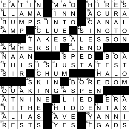 photograph about Printable Crossword Puzzles La Times titled LA Moments Crossword 4 Jul 19, Thursday -