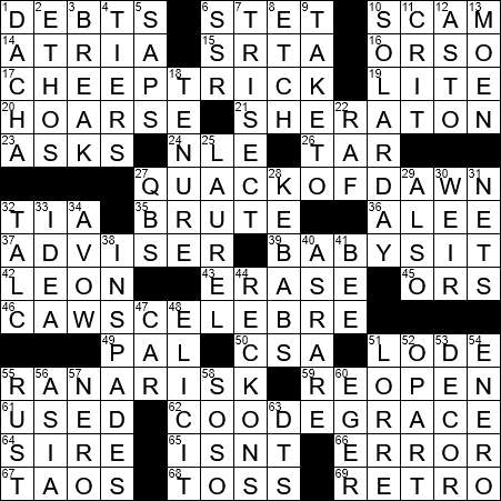La Times Crossword 11 Jul 19 Thursday Laxcrossword Com